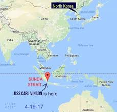 us map equator us navy steaming toward n korea is on the wrong side of the