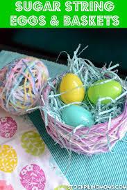 sugar eggs easter sugar string eggs and baskets