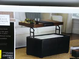 coffee tables astonishing rectangle black leather storage