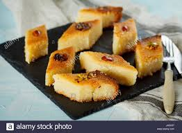 arab traditional bass with different nuts eastern dessert from