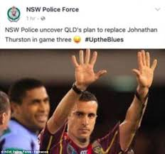 Nsw Blues Memes - nsw police forced to apologise over facebook meme daily mail online