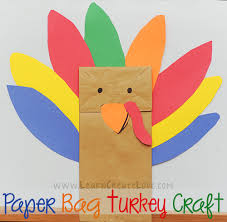thanksgiving crafts paper bag turkey craft crafts