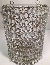 hanging crystal candle holder ebay