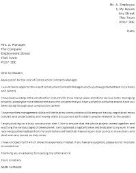 construction contracts manager cover letter example u2013 cover
