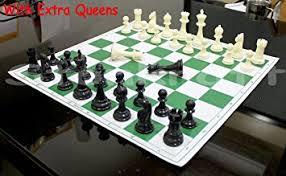 buy chess set amazon com 17 x 17 tournament chess set with plastic staunton