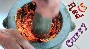 red curry paste recipe how to make thai style chili curry youtube