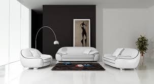 canapé 3 places cuir blanc canapé en cuir italien 3 places modèle cotton