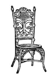 Dining Room Table Clipart Black And White Antique Furniture Clipart 37