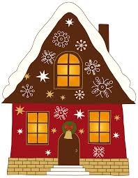free download christmas house clipart for your creation