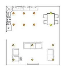 recessed lighting layout calculator for the home pinterest