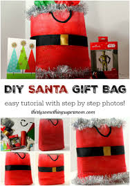 diy santa gift bag tutorial thirtysomethingsupermom