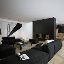 salon canapé noir déco noir et blanc pour salon en 50 idées inspirantes