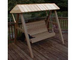 red cedar wooden canopy for porch swing