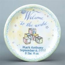 personalized birth plates personalized 11 birth plate paint your own pottery