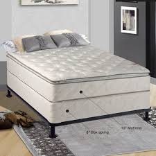 Bed Frame For Boxspring And Mattress Spinal Solution 10 Firm Innerspring Mattress With Box