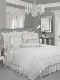 love these colors with the silver detailed mirror above bedroom
