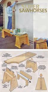 super sawhorses plans workshop solutions plans tips and tricks