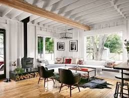 cabin paint ideas living room farmhouse with large windows