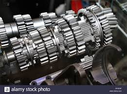 cut away view of high performance racing gearbox showing cogs and
