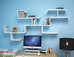 Computer Wall Desk Modular Branch Decorative Wall Shelving Expand