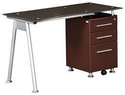 wood desk with glass top glass top wood desks houzz