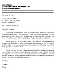sample invitation letter for visa 9 examples in word pdf