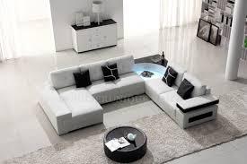 canapé contemporain canapé d angle panoramique en cuir avec éclairage intégré panama