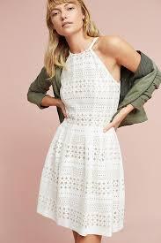 lace halter mini dress anthropologie
