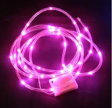 battery led string lights clear tube pink lights battery 40 led 15 feet long batt 1sets