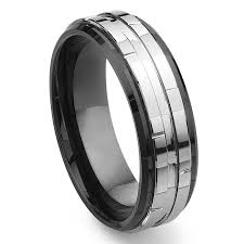 two tone wedding rings 2nd generation tungsten carbide two tone wedding band ring