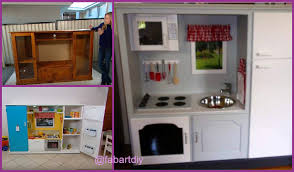 recycle tv cabinet into kids toy kitchen video