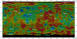 Topographic Map Of Washington by Space Images Topographic Ceres Map With Crater Names