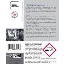 plan de nettoyage et de d駸infection cuisine détartrant désinfectant cuisine appareils ménagers brioxol 5l