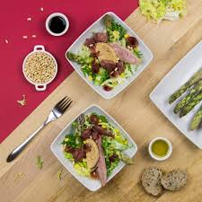 landes cuisine salad from the landes with bayonne ham consortium du jambon de bayonne