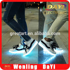 chargeable micro usb led light switch cable led lighting shoe