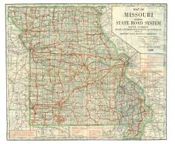 missouri county map with roads maps