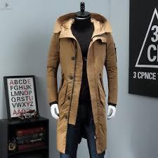 winter jacket men hat detachable warm coat cotton padded outwear