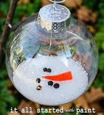 34 creative diy ornaments melted snowman ornament