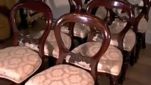 Victorian Dining Room Chairs Victorian Dining Chairs Admiralty Mahogany Chair Video Dailymotion