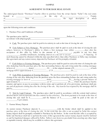 real estate purchase agreement template best business template