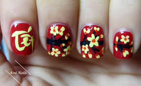 lunar vietnamese new year nail art tutorial 2016 youtube