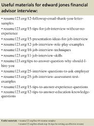 top 8 edward jones financial advisor resume samples