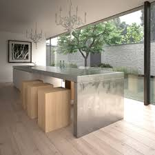 stainless steel kitchen island table stainless steel kitchen island sleek and sumptuous by abimis