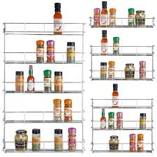 Wall Mount Spice Rack With Jars Kitchen Spice Holders Hanging Spice Rack Spice Jar Set