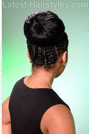 twisted bun hairstyle on african american african american black bride wedding hair natural hairstyles