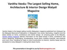 Selling Home Interior Products Vanitha Veedu The Largest Selling Home Architecture U0026 Interior