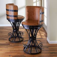 bar stools unique bar stool with wrought iron base and drum