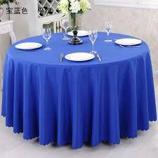 wedding table covers 3pcs royal blue 108 plain 100 polyester table cloths