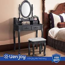 black makeup desk with drawers black dressing table vanity makeup desk with 4 drawers mirror set