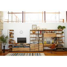 buy west elm industrial modular 84cm open and closed storage